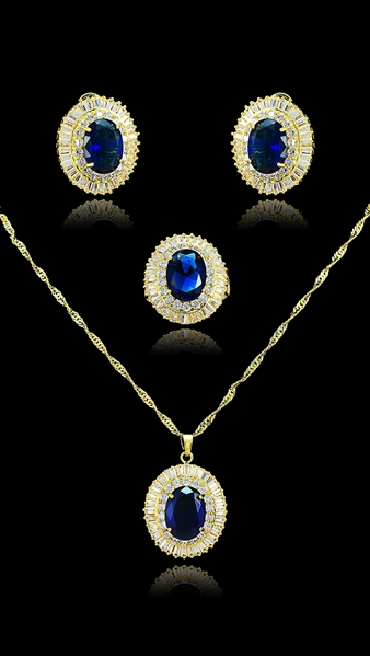 Picture of Latest Luxury Brass 3 Pieces Jewelry Sets