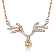 Show details for  Copper Or Brass Cubic Zirconia Short Chain Necklaces 3LK053782N