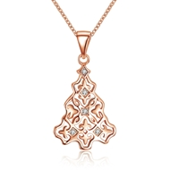 Show details for  Cubic Zirconia 18 Inch Pendant Necklaces 3LK053794N