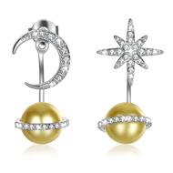 Show details for  925 Sterling Silver Medium Dangle Earrings 3LK054363E