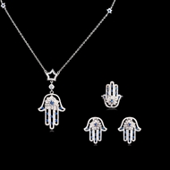 Picture of  Others Cubic Zirconia 3 Piece Jewelry Sets 3FF054569S