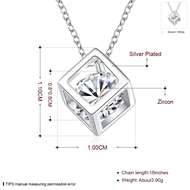 Picture of Copper or Brass Cubic Zirconia Pendant Necklace at Super Low Price
