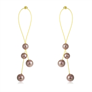 Picture of Copper or Brass Gold Plated Dangle Earrings from Reliable Manufacturer