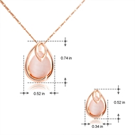 Picture of Classic Rose Gold Plated Necklace and Earring Set with Fast Shipping