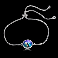 Picture of Designer Platinum Plated Small Adjustable Bracelet with Easy Return
