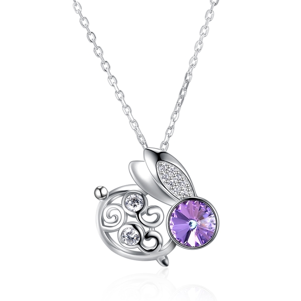 Picture of Fashion Purple Pendant Necklace with Full Guarantee