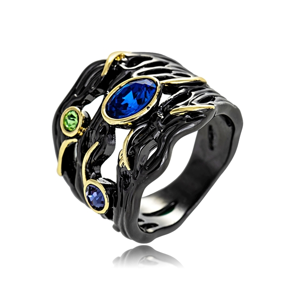 Picture of Low Cost Multi-tone Plated Classic Fashion Ring with Low Cost