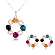 Picture of Nice Artificial Crystal Small Necklace and Earring Set