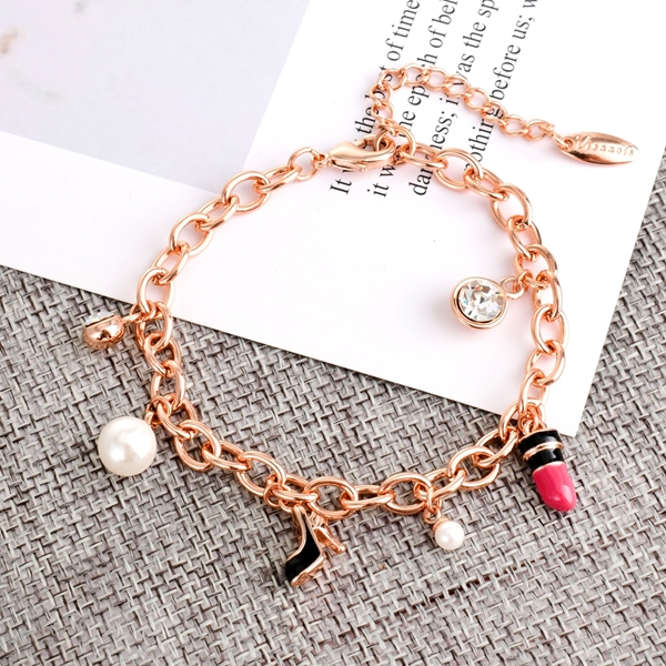Picture of Low Price Rose Gold Plated White Fashion Bracelet from Trust-worthy Supplier