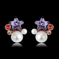 Picture of Irresistible Purple Classic Stud Earrings As a Gift