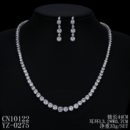Picture of Nice Cubic Zirconia Big Necklace and Earring Set