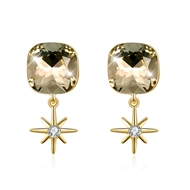 Show details for 925 Sterling Silver Gold Plated Stud Earrings From Reliable Factory