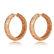 Picture of Copper or Brass Luxury Big Hoop Earrings with Fast Shipping
