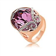 Picture of Delicate Swarovski Element Rose Gold Plated Fashion Ring