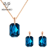 Picture of Exclusive 16 Inch Blue Necklace and Earring Set in Exclusive Design