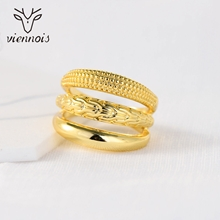 Picture of Trendy Gold Plated Big Fashion Ring with No-Risk Refund