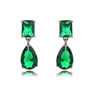 Picture of Eye-Catching Green Luxury Dangle Earrings with Member Discount
