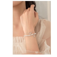 Picture of 925 Sterling Silver Opal Fashion Bracelet in Exclusive Design
