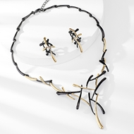 Picture of Zinc Alloy Rose Gold Plated Necklace and Earring Set at Great Low Price