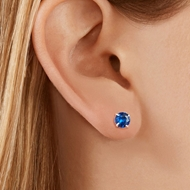 Picture of Best Cubic Zirconia Platinum Plated Stud Earrings