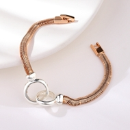 Picture of Zinc Alloy Rose Gold Plated Fashion Bracelet at Super Low Price
