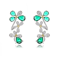 Picture of Brand New Green Copper or Brass Front Back Earrings with SGS/ISO Certification