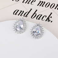 Picture of Copper or Brass Platinum Plated Stud Earrings at Super Low Price