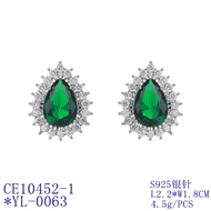 Picture of Copper or Brass Green Stud Earrings at Unbeatable Price
